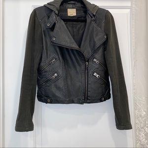Vegan Leather Motto Jacket
